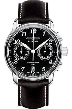 Zeppelin Męski zegarek na rękę 100 lat chronograf kwarcowy skóra 76782
