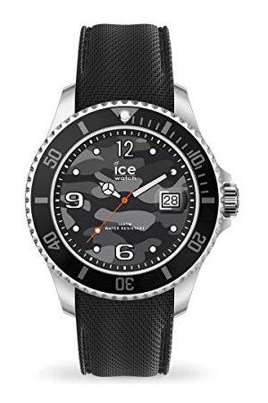Ice-Watch ICE stal czarna armia - męski zegarek na rękę z paskiem silikonowym - 017328 (bardzo duży)