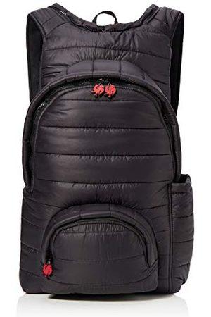 Morikukko Uniseks - dorosły plecak z kapturem z piaskiem plecak (puffed Black Red)