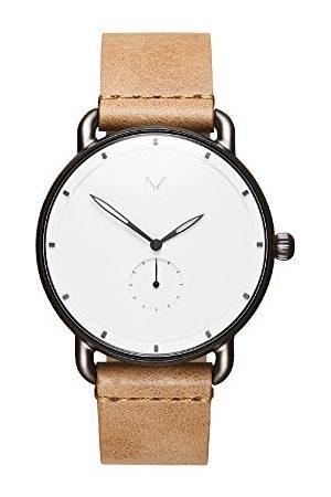MVMT Męski analogowy zegarek kwarcowy ze skórzanym paskiem ze skóry cielęcej D-MR01-WC