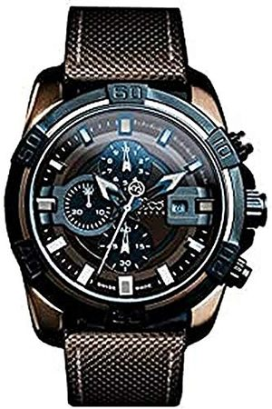 B360 Unisex analogowy zegarek kwarcowy z różnymi materiałami bransoletka B CLASS ONE BROWN IP