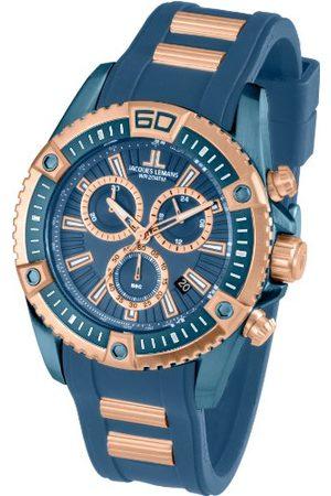 Jacques Lemans Męski chronograf kwarcowy Smart Watch zegarek na rękę z silikonowym paskiem 1-1805E