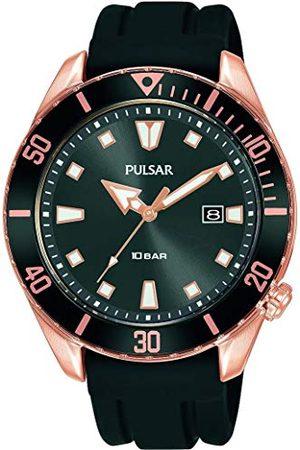Pulsar Analogowy zegarek kwarcowy z paskiem silikonowym PG8312X1