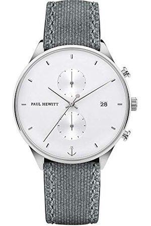 Paul Hewitt Męski chronograf kwarcowy zegarek z bransoletką z materiału PH-C-S-W-51M