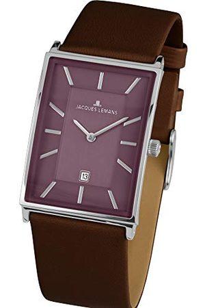 Jacques Lemans Męski zegarek na rękę York analogowy kwarcowy skóra 1-1603G