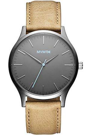 MVMT Męski analogowy zegarek kwarcowy ze skórzanym paskiem D-MT01-GML