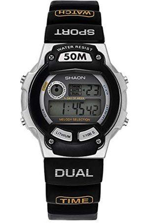Shaon Męski cyfrowy zegarek kwarcowy z kauczukowym paskiem 39-6020-44