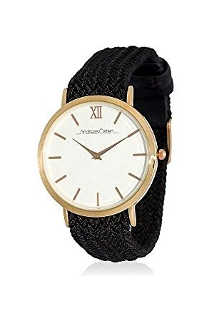 Andreas Osten Unisex analogowy zegarek kwarcowy z bransoletką z materiału AO-215