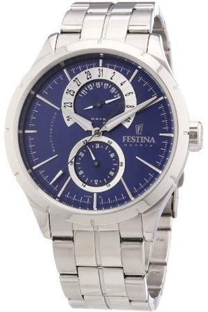 Festina Męski analogowy zegarek kwarcowy z bransoletką ze stali szlachetnej F16632/2