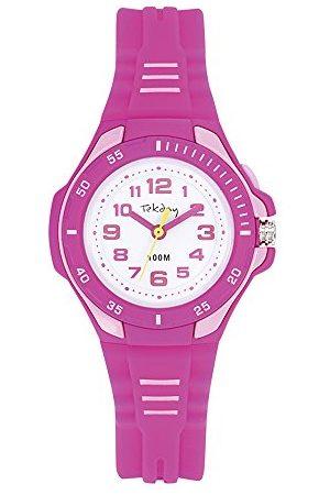 Tekday Unisex 654035 dziecięcy analogowy zegarek kwarcowy z silikonowym paskiem