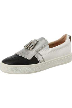 Geox Damskie buty typu sneaker D Leelu' C Slip On, - White Black C0404-36 EU