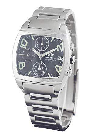 Time Force Męski chronograf kwarcowy zegarek z bransoletką ze stali szlachetnej TF2589M-01M