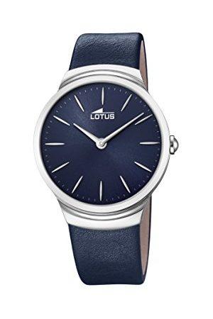 Lotus Męski analogowy klasyczny zegarek kwarcowy ze skórzanym paskiem 18498/3