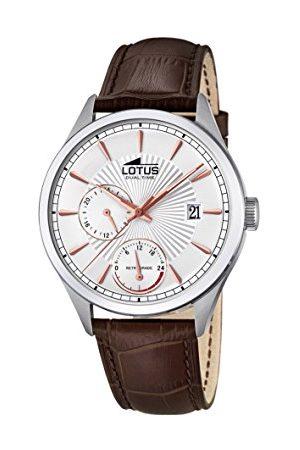 Lotus Męski multicyferblat kwarcowy zegarek ze skórzanym paskiem 18577/1