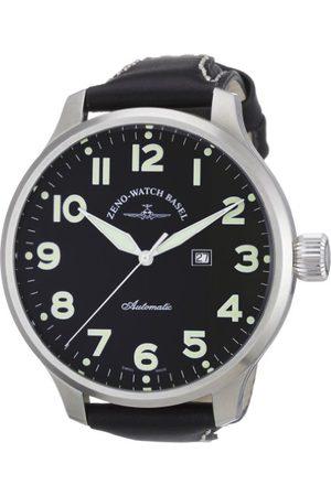 Zeno Męski automatyczny zegarek super oversize 9554SOS-a1 ze skórzanym paskiem