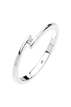 DIAMORE Damski pierścionek zaręczynowy, elegancki diament e srebro, colore: srebro, cod. 0605620913_56