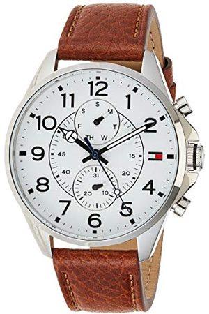 Tommy Hilfiger Męski analogowy zegarek kwarcowy ze skórzanym paskiem 1791274