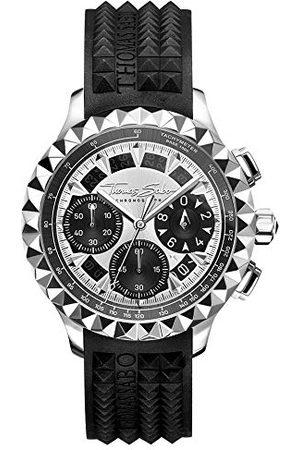 Thomas Sabo WA0357-214-201-43 mm męski analogowy zegarek kwarcowy z kauczukowym paskiem WA0357-214-201-43 mm