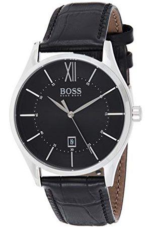 HUGO BOSS Męski analogowy zegarek kwarcowy ze skórzanym paskiem 1513794