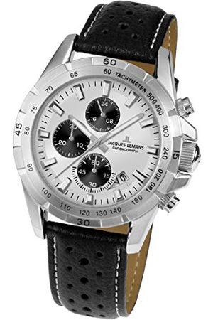 Jacques Lemans Unisex analogowy zegarek kwarcowy ze skórzanym paskiem 1-1826B