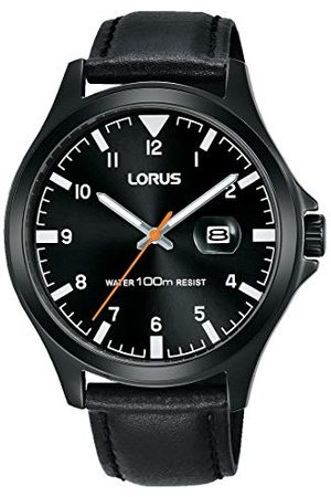 Lorus Sport męski zegarek ze stali nierdzewnej ze skórzanym paskiem RH967KX9