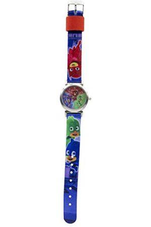 PJ Masks 17027 analogowy zegarek kwarcowy dla dzieci, z materiałowym paskiem