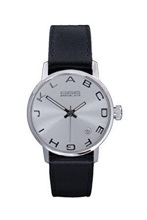 666Barcelona Uniseks dla dorosłych analogowy zegarek kwarcowy ze skórzanym paskiem 66-270