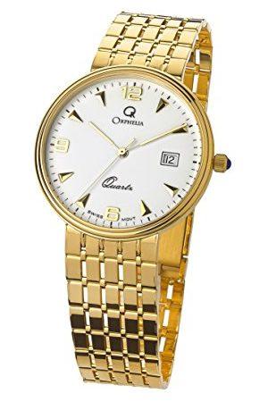 ORPHELIA Męski analogowy zegarek kwarcowy z żółtym paskiem MON-7079