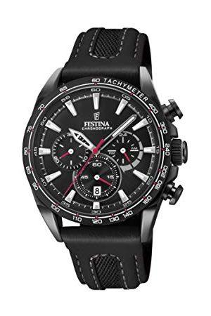 Festina Unisex zegarek na rękę dla dorosłych Chronograf kwarcowy Smart Watch ze skórzaną bransoletką F20351/3