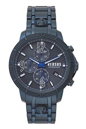 VERSACE Mens analogowy zegarek kwarcowy z bransoletką ze stali nierdzewnej VSPHJ0920