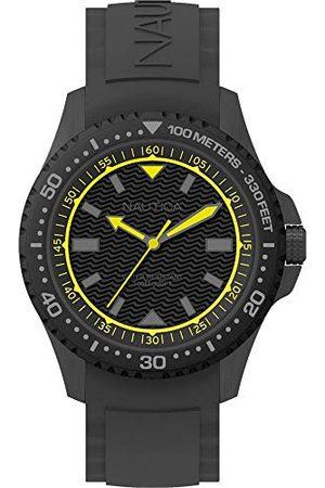 Nautica NAPMAU006 męski analogowy kwarcowy zegarek z silikonowym paskiem