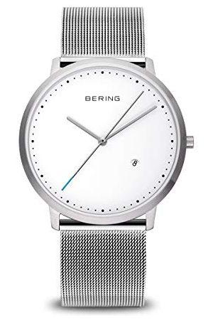Bering Zegarek na rękę unisex analogowy kwarcowy stal szlachetna 1139-004