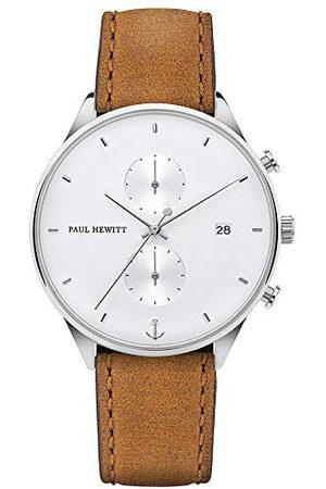 Paul Hewitt Męski chronograf kwarcowy zegarek ze skórzanym paskiem PH-C-S-W-49M
