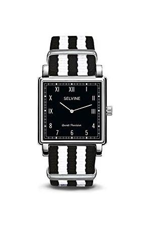 Selvine Unisex-dorosły analogowy klasyczny zegarek kwarcowy z nylonowym paskiem SPRE2