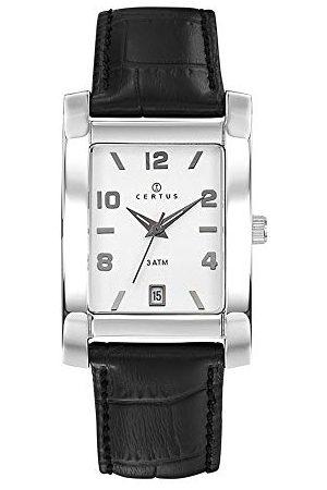 Certus Męski analogowy zegarek kwarcowy ze skórzanym paskiem 61116