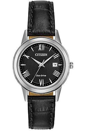 Citizen Damski analogowy zegarek kwarcowy ze skórzanym paskiem FE1081-08E