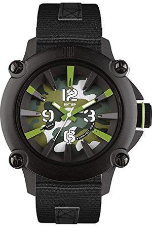 Eñe Męski analogowy zegarek kwarcowy z gumowym paskiem 640000108