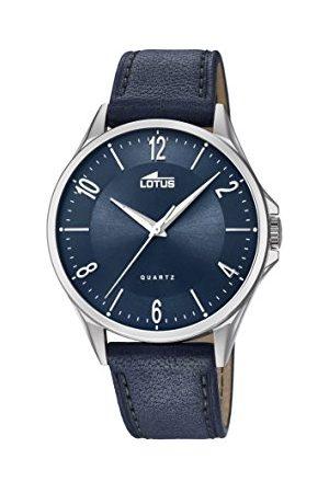 Lotus Męski analogowy klasyczny zegarek kwarcowy ze skórzanym paskiem 18518/3