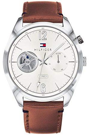 Tommy Hilfiger Męski wielofunkcyjny zegarek kwarcowy ze skórzanym paskiem 1791550