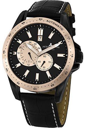 Jacques Lemans Męski chronograf kwarcowy zegarek ze skórzanym paskiem 1-1775F