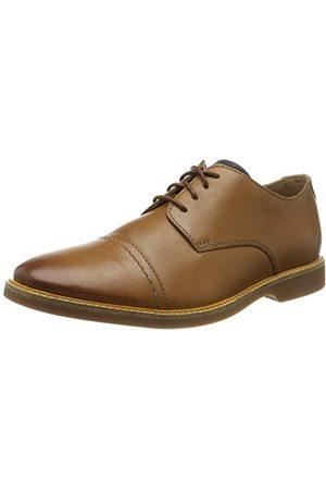 Clarks Męska czapka Atticus Cap Derbys, - Braun Tan Leather Tan Leather - 40 EU