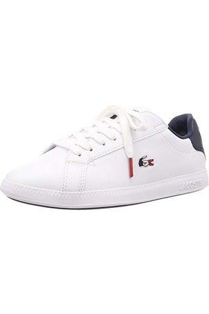 Lacoste Sneakersy damskie Graduate Tri 1 SFA, Wht Nvy Red 407-37.5 EU