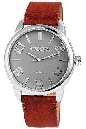 Aerostar Męski analogowy zegarek kwarcowy z imitacji skóry 21102700004