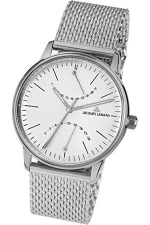 Jacques Lemans Męski multicyferblat kwarcowy zegarek z bransoletką ze stali szlachetnej N-218F