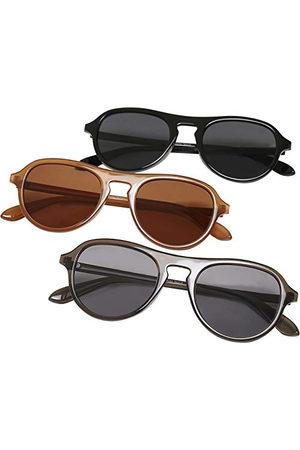 Urban classics Unisex okulary przeciwsłoneczne Kalimantan 3-pak okulary przeciwsłoneczne, brązowe/szare/czarne, jeden rozmiar (3 sztuki)
