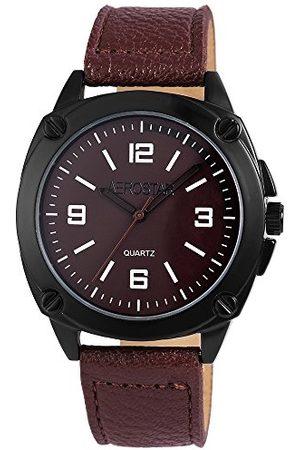 Aerostar Męski analogowy zegarek kwarcowy z imitacji skóry 21107700008