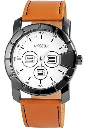 Aerostar Męski analogowy zegarek kwarcowy z imitacji skóry 21107200009