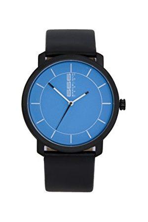 666Barcelona Męski analogowy zegarek kwarcowy ze skórzanym paskiem 66-323