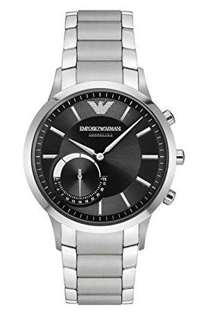 Emporio Armani Męski smartwatch z połączeniem hybrydowym. Bransoletka Silver/Steel