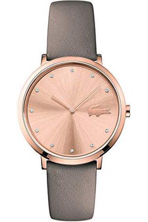 Lacoste Unisex-dorosły analogowy klasyczny zegarek kwarcowy ze skórzanym paskiem 2001039